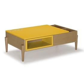 Mesa de Centro Bellerín em Madeira Maciça - Amarelo