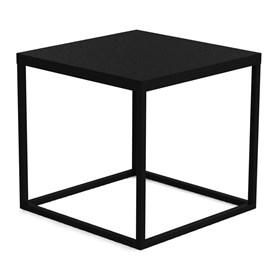 Mesa de Centro Eliza em Aço Carbono - Preto 38cm