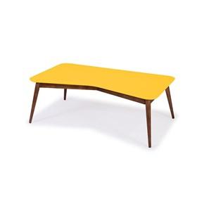 Mesa de Centro Neco em Madeira Maciça - Amarelo