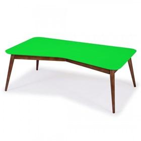 Mesa de Centro Neco em Madeira Maciça - Verde