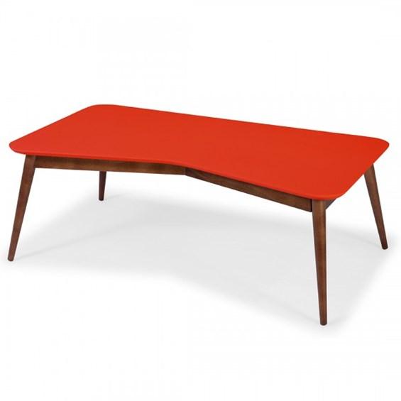 Mesa de Centro Neco em Madeira Maciça - Vermelho