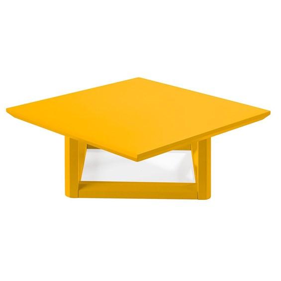 Mesa de Centro Palau Madeira Maciça - Amarelo