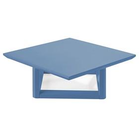 Mesa de Centro Palau Madeira Maciça - Azul