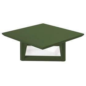 Mesa de Centro Palau Madeira Maciça - Verde Musgo