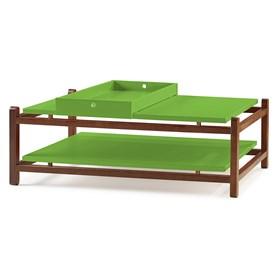 Mesa de Centro Trio em Madeira Maciça - Verde