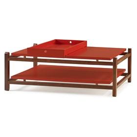 Mesa de Centro Trio em Madeira Maciça - Vermelho
