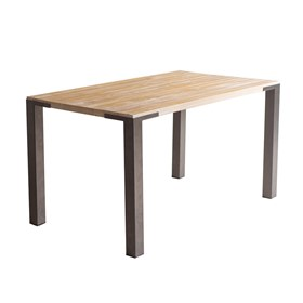 Mesa de Jantar Califórnia em Madeira Maciça 140cm - Driftwood