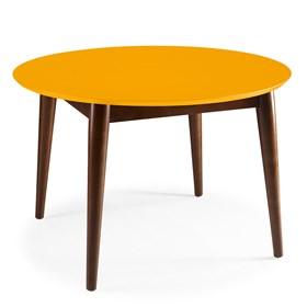 Mesa de Jantar Emma em Madeira Maciça - Amarelo