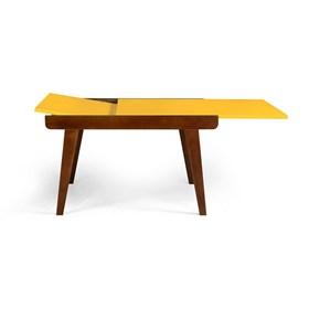 Mesa de Jantar Extensível Rima em Madeira Maciça - Amarelo