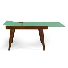 Mesa de Jantar Extensível Rima em Madeira Maciça - Verde Anis
