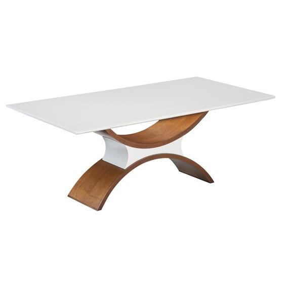 Mesa de Jantar Halver C/ Tampo de Vidro