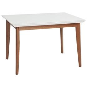 Mesa de Jantar Julien com vidro 120 cm - Branco