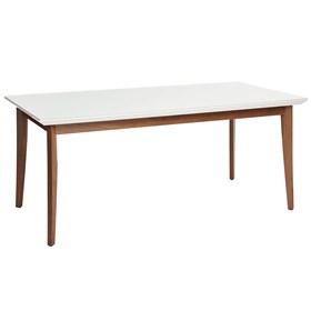 Mesa de Jantar Julien com vidro 160 cm - Branco
