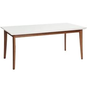 Mesa de Jantar Julien com vidro 180 cm - Branco