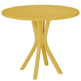 Mesa de Jantar Klaus em Madeira Maciça - Amarelo