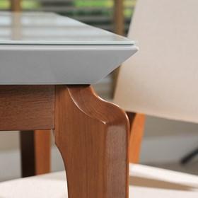 Mesa de Jantar Lauren Branco Gloss 2.1 com Vidro 4mm