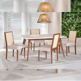 Mesa de Jantar Lisboa 160cm em Madeira Maciça