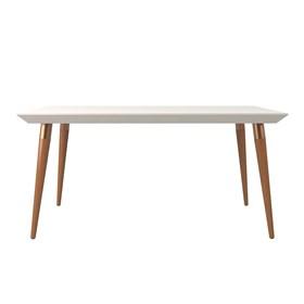 Mesa de Jantar Liv com Vidro 160 cm - Off-white