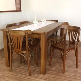 Mesa de Jantar Norwich em Madeira Maciça - Linha Luthemberg