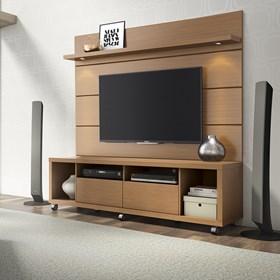 Painel Suspenso Horizon Marrom Claro 2.17cm Para Tv Até 60'