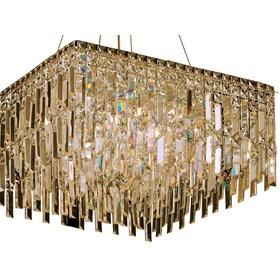 Pendente Crystal III 58cm de Metal e Cristal Moderno