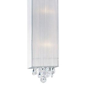 Pendente Filka III 50cm de Metal Tecido e Cristal Moderno