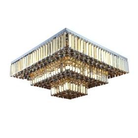 Plafon Arson II de Metal e Cristal Moderno