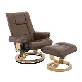 Poltrona de Massagem Candreva em Couro Sintético - Marrom Vintage