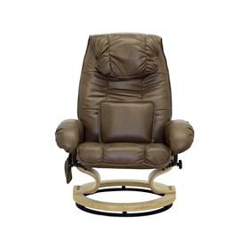 Poltrona de Massagem Valero em Couro Sintético - Marrom Vintage