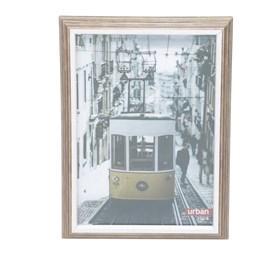 Porta Retrato Cizur em Madeira - Marrom - 13x18cm