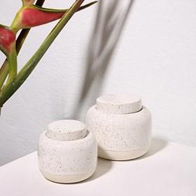 Pote Bonya em Cerâmica 13cm - Branco