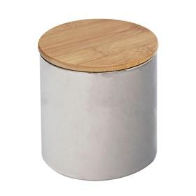 Pote Bruch em Bambu e Vidro 10cm - Cinza
