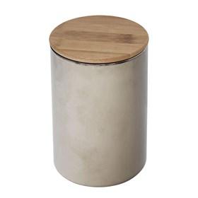 Pote Bruch em Bambu e Vidro 15cm - Cinza