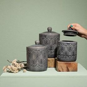 Pote Laman em Cerâmica 15cm
