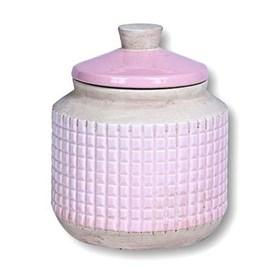 Pote Ridek em Cerâmica 17cm - Rosa