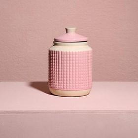 Pote Ridek em Cerâmica 20cm - Rosa