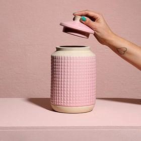 Pote Ridek em Cerâmica 24cm - Rosa