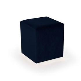 Puff Henrietta Fixo em Veludo - Azul Escuro