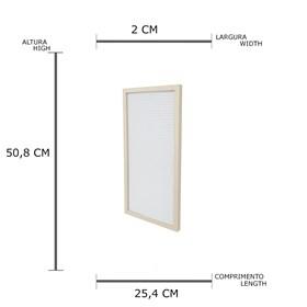Quadro Zafos de Madeira C/Alfabeto - Branco/Dourado - 50cm