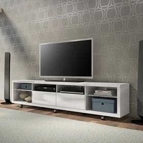 """Rack C/ Rodinhas Horizon Branco 2.17cm Para Tv's de Até 60"""""""