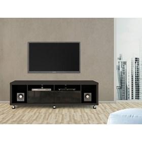 """Rack C/ Rodinhas Horizon Preto 1.8cm Para Tv's Até 60"""""""