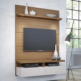 Rack e Painel Suspenso Horizon 1.2m Para Tv's Até 42'' Marrom Claro