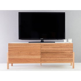 Rack Para TV Clapton 1,2m 2 Portas Madeira Jatobá