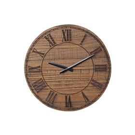 Relógio de Parede em Números Romanos de Madeira Maciça