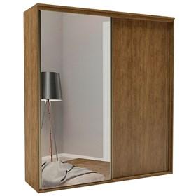 Roupeiro C/Espelho Inteiriço Galileu 178 cm de 2 portas em MDF