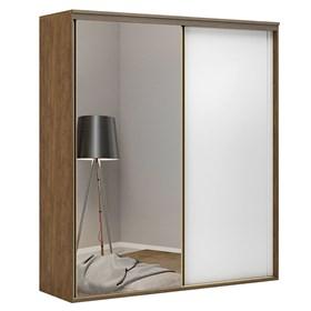 Roupeiro C/Espelho Inteiriço Galileu 178 cm de 2 portas em MDF - Portas Brancas