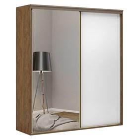 Roupeiro C/Espelho Inteiriço Galileu 207 cm de 2 portas em MDF - Portas Brancas