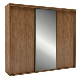 Roupeiro C/Espelho Inteiriço Galileu 227 cm de 3 portas em MDF