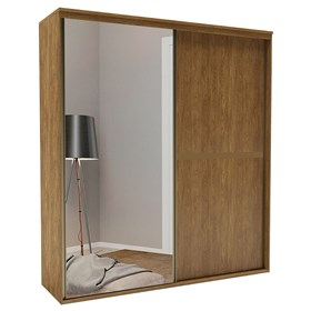 Roupeiro C/Espelho Inteiriço Pandora 178 cm de 2 Portas em MDF