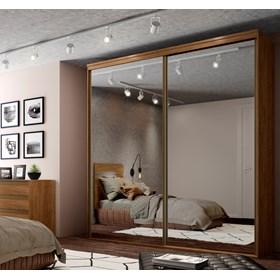 Roupeiro Calisto Álamo de 3 Portas C/Espelho Inteiriço - 207cm